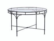 "Brown Jordan  Florentine 48"" Round Glass Umbrella Table"