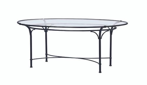 "Florentine Dining Room: Brown Jordan Florentine 86"" Oval Glass Dining Table"