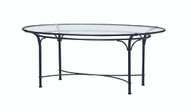 "Brown Jordan Florentine  86"" Oval Glass Dining Table"