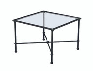 "Brown Jordan Florentine  26"" Square Corner Glass Table"