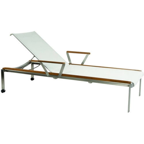 Kingsley Bate Tivoli - Contemporary Stainless Steel and Solid Teak Chaise Lounge  sc 1 st  Outdoor Furniture : kingsley bate chaise lounge - Sectionals, Sofas & Couches