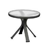 "Brown Jordan Quantum 18"" Round Occasional Table"
