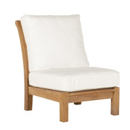 Kingsley Bate Chelsea Outdoor Teak Sectional Armless Chair