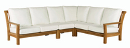 Kingsley Bate Chelsea Outdoor Teak Four Piece Sectional