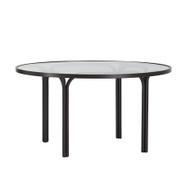 "Brown Jordan Kantan 42"" Round Glass Top Chat Table"
