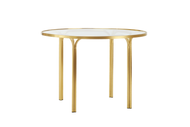 "Brown Jordan Kantan Brass 42"" Round Dining Table"