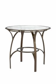 "Brown Jordan Pasadena 42"" Round Bar Table w/Glass Top"