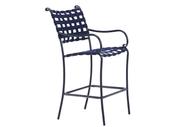 Brown Jordan Roma Suncloth Strap Bar Chair