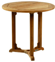 "Kingsley Bate Essex - 30"" Round Teak Outdoor Dining Table"