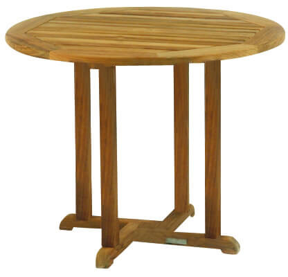 Kingsley Bate Essex Teak Round Dining Table Into The Garden - 36 round outdoor dining table