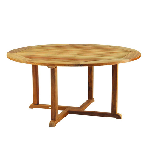 Kingsley Bate Essex 42 Quot Round Teak Outdoor Dining Table
