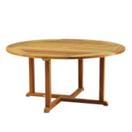 "Kingsley Bate Essex - 42"" Round Teak Outdoor Dining Table"