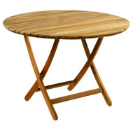 "Kingsley Bate Newport - 42"" Round Outdoor Teak Dining Table"