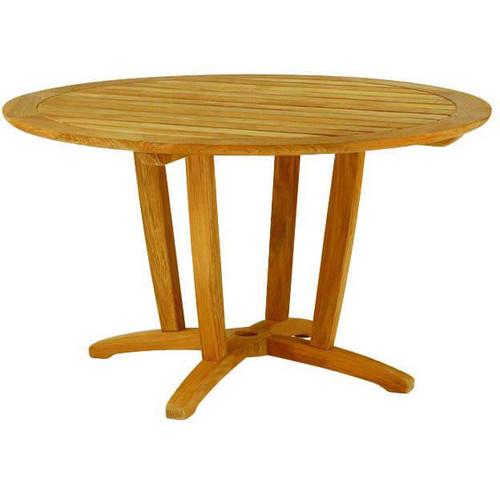 kingsley bate amalfi 50 round teak outdoor dining table - Teak Outdoor Dining Table