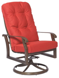 Woodard Cortland Swivel Rocker High Back Dining Arm Chair