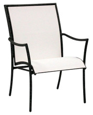 Woodard Modern Dominica Outdoor Patio Arm Chair - Aluminum frame with sling fabric