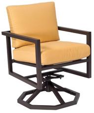 Woodard Salona Swivel Rocker Arm Chair