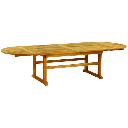 Kingsley Bate Essex Teak Oval Extension Table Into The Garden - Teak oval extending table