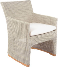 Kingsley Bate Westport Wicker Outdoor Dining Arm Chair