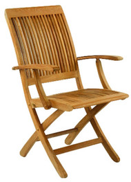 Kingsley Bate Monterey - Outdoor Teak Folding Arm Chair