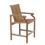 Kingsley Bate Nantucket Counter Stool with Arms