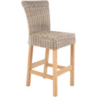 Kingsley Bate Sag Harbor Wicker Bar Chair