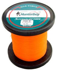 Hunterboy Opaque Orange Mono Fishing Line 1000m 12lb Ultra High Visibility Nylon