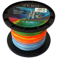 Bojin Zero 8 Strand Braid Fishing Line 80lb 300m 5 Colour Jigging 100% UHMWPE