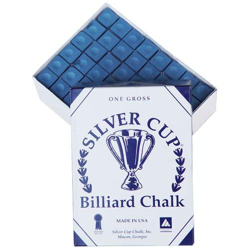 Silver Cup Chalk, Blue, 144-Piece Box