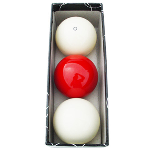 Sterling Carom Balls: White, Red, White w/Red Circle