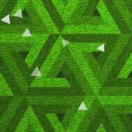 ArtScape 7' Green Triangles Pool Table Cloth