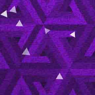 ArtScape 7' Purple Triangles Pool Table Cloth