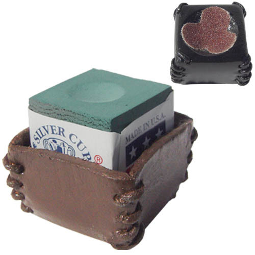 Deluxe Leather Chalk Holder w/Scuffer, Brown