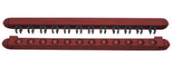 Roman-Style Two-Piece Wall Rack, Mahogany, 12 Cue