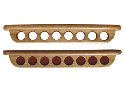 Sterling Deluxe Two-Piece Wall Rack, Oak, 8 Cue
