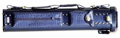Sterling Black and Blue Pro Pool Cue Case for 3 Butts, 5 Shafts