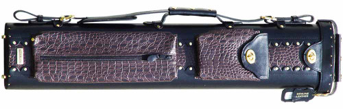 Sterling Black and Brown Pro Pool Cue Case for 3 Butts, 5 Shafts