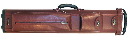 Sterling Ultra-Leather Rolling Case, 4 Butts and 8 Shafts, in Wine