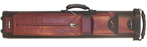 Sterling Ultra-Leather Rolling Case, 2 Butts and 4 Shafts, in Black and Wine