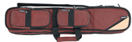 Sterling Burgundy Angora Pool Cue Case for 4 Cues