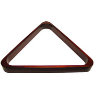 Deluxe Wood Pool Ball Triangle, Mahogany