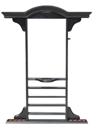 Sterling Deluxe Wall Rack, Black, 8 Cue w/Ball Rack & Cone Chalk Holder