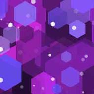 ArtScape 7' Purple Hexagons Pool Table Cloth