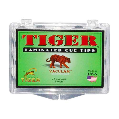 Tiger Laminated Tips, Hard,14mm (Box of 12)