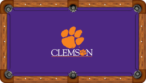 Clemson University Tigers 8' Pool Table Felt