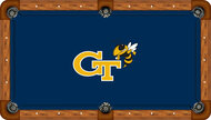 Georgia Tech University Yellow Jackets 8' Pool Table Felt