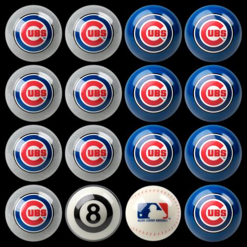 Chicago Cubs Pool Balls