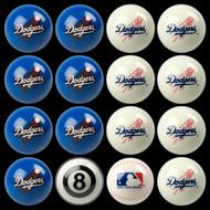 LA Dodgers Pool Balls