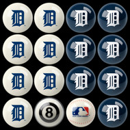 Detroit Tigers Pool Balls