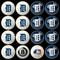 Detroit Tigers Pool Balls